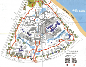 Huayu Resort Spa Yalong Bay Sanya Hainan Map