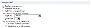 Microsoft Access Optionen