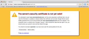 Google Chrome SSL Error