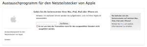 Apple Transaktion Standort
