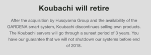 Koubachi will retire