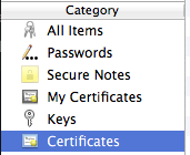 Apple Keychain Certificates