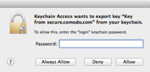 Apple Keychain login Password