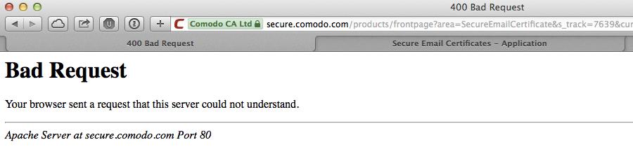 Ein kostenloses Comodo S/MIME E-Mail-Zertifikat lösen und auf iOS ...