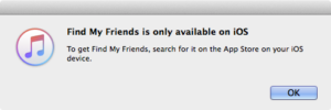 Find My Friends is only available on iOS