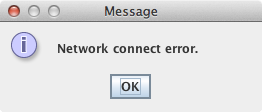 Avocent Network Connect Error