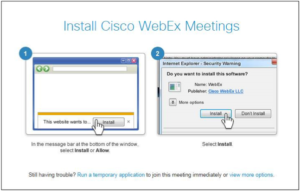 WebEx Run temporary application