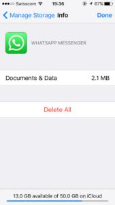 whatsapp backup löschen iphone